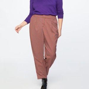 Eloquii High Waisted Plaid Pants